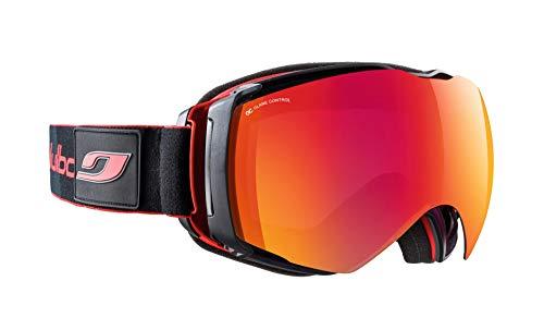 Julbo Airflux Masque de Ski avec Le SuperFlow System avec écran polarisant Homme, Rouge/Noir, XL+