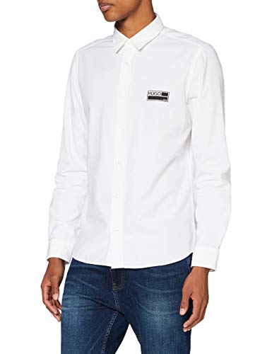 Photo of HUGO Men's Emero 50438119 Shirt, Open White (199), S