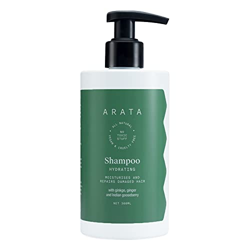 Arata Natural Hydrating Hair Shampoo with Ginkgo,Ginger & Indian Gooseberry for Men & Women || All Natural,Vegan & Cruelty Free ||...