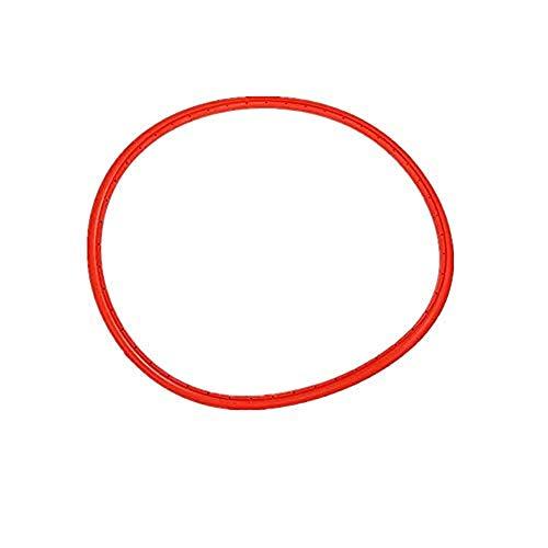GLOGLOW Pneumatico della Bicicletta di 4 Colori, Biciclette Antiurto della Bicicletta Tubless Che Guida i Pneumatici Solidi per 700 * 23C Bici da Corsa Fisso(Rosso)