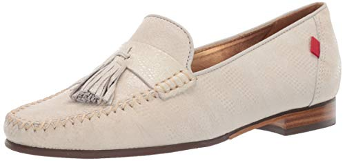 MARC JOSEPH NEW YORK Womens Leather Made in Brazil Liberty Park Loafer, Ivory Glaze, 9.5 M US