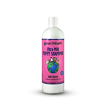 earthbath Ultra-Mild Puppy Shampoo and Conditioner Wild Cherry 16 oz – Tearless & Extra Gentle – Made in USA