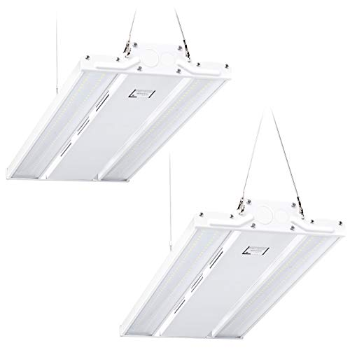 Hyperikon 2 Foot Shop Light, LED Hanging High Bay with Motion Sensor, DLC, 100 Watts, 2 Pack