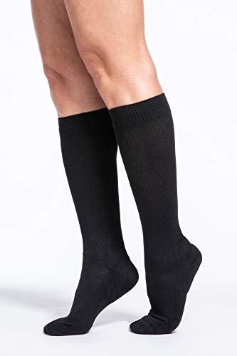 SIGVARIS Women's Motion Cushioned Cotton 360 Closed Toe Calf-High Socks 20-30mmHg