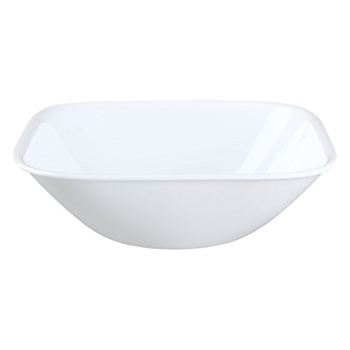 Corelle Square 22-Ounce Soup/Cereal Bowl, White, Set of 6 (1117146)