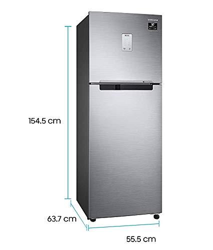 Samsung 244L 3 Star Inverter Frost Free Double Door Refrigerator (RT28T3523S8/HL, Elegant Inox, Curd Maestro) 3