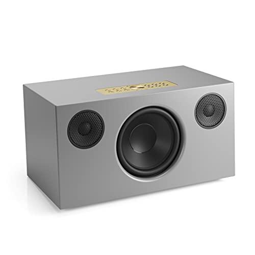 Kabelloser Multiroom Lautsprecher - Tragbarer Speaker - AirPlay 2 - Google Assistant und Cast - Spotify Connect - Bluetooth - Sprachsteuerung - C10 MkII - Grau