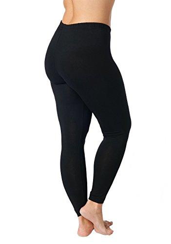 Ulla Popken Große Größen Damen Skinny Leggings Leggings, 66531510, Gr. 58 (Herstellergröße: 58+), Schwarz (schwarz 10)