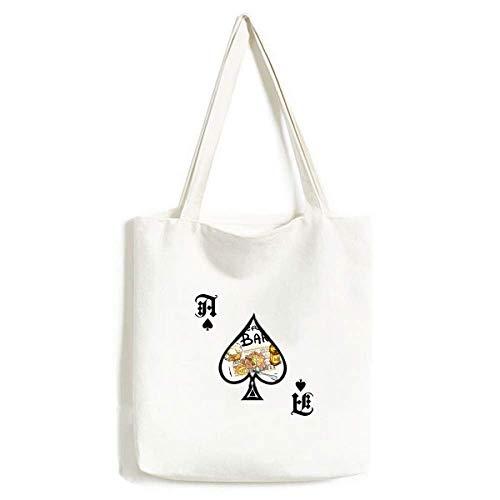 Bier Bar Gourmet Brot Frankreich Handtasche Craft Poker Spaten waschbare Tasche