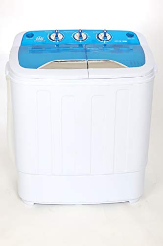 DMR 3.6 kg Inverter Mini Twin Tub Portable Semi-Automatic Top Loading Washing Machine, Spin Capacity 2Kg (DMR 36-1288S, Blue)