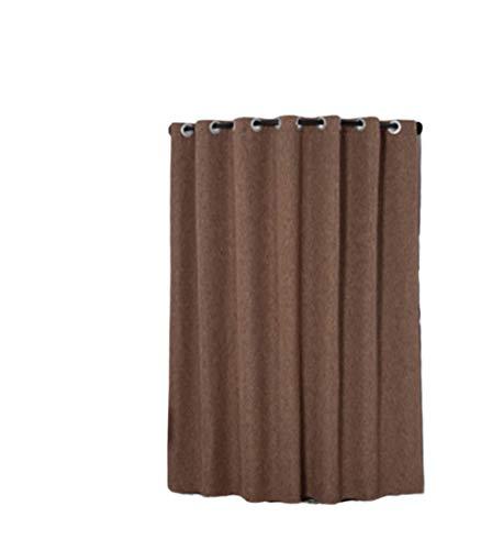 BEIYANG Vorhang für Kleidungsgeschäfte, Umkleidekabine C-Form Radius 100 cm Kaffee