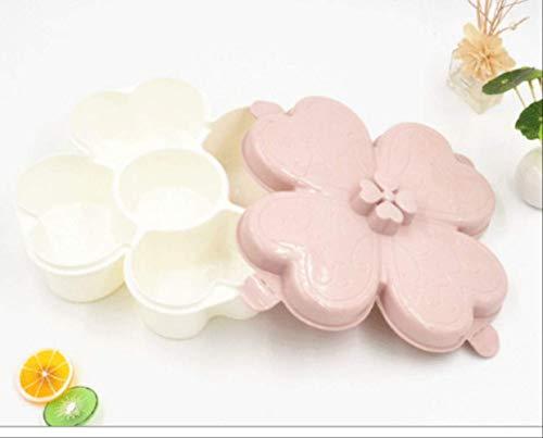 KWOSJYAL Befeuchtende Nussfrucht-Plastikschüssel mit fünfteiligem Dichtungsscheiben-Süßigkeitskasten-Ausgangswohnzimmer des Deckels
