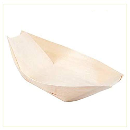 Palucart Barchette Bambu Finger Food 100 Coppette in Legno 14 x 8 cm Biodegradabili Compostabili per Aperitivo Snack Stuzzichini Barca Pagoda