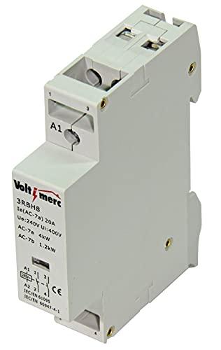Voltimerc Contactor Electrico Modular 2P 20A-230V