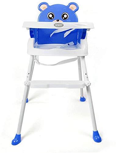 Bcaer 4-en-1 Trona de Mesa niño Convertible de la Silla de alimentación del bebé Asiento de elevación,Blue