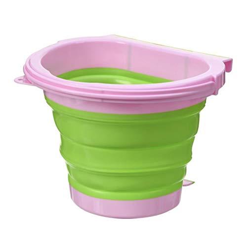 J-ouuo Cubo de basura plegable de silicona para colgar en la puerta del armario de cocina, dormitorio, coche
