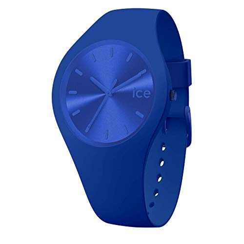ICE-Watch Ice Colour Royal-Blaue Herren/Unisexuhr mit Silikonarmband-017906 (Medium) 017906