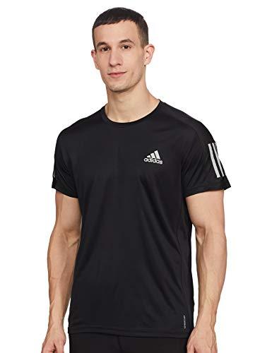 adidas Herren Own The Run T-Shirt, Black, M