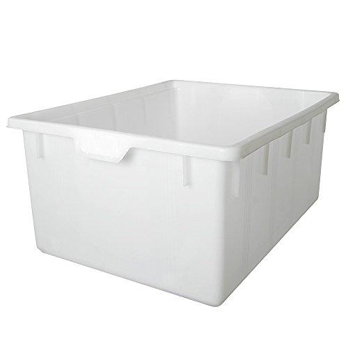 Kunststoffwanne, lebensmittelecht, 145 Liter, Außenmaß LxBxH 800x640x380 mm, weiß