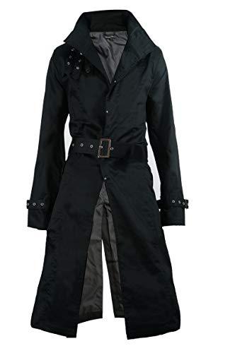 SaganStyle(サガンスタイル)ロングコート メンズ トレンチコート シングルトレンチコート KR-O137007 黒 L or1
