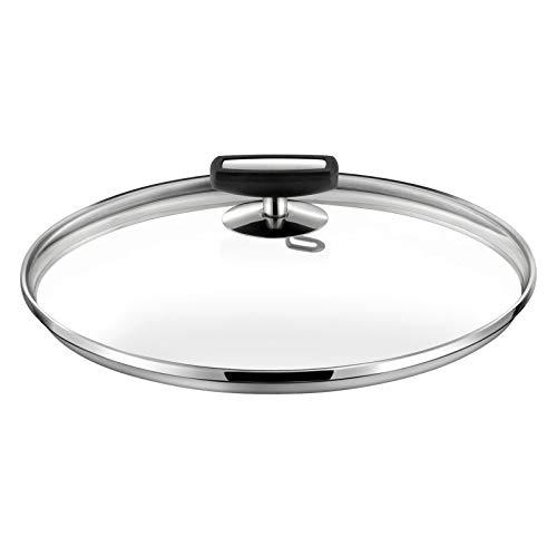 Cuisinox Malice - Couvercle 24cm verre, bakélite noire et acier
