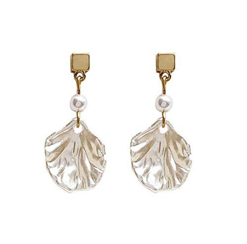 Moda carino perla intarsiato conchiglia acrilica capesante a forma di mare spiaggia stile goccia orecchini pendenti per le donne ragazza capretto orecchio gioielli regalo 2 pezzi