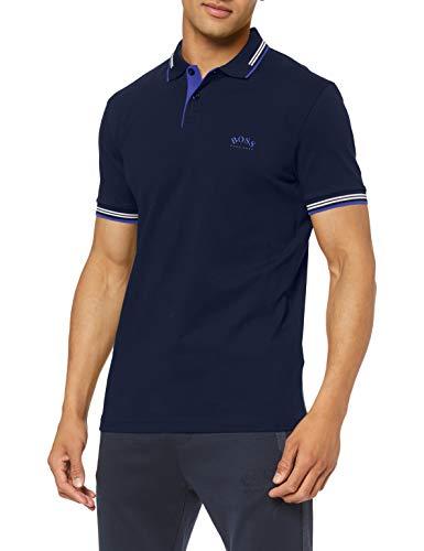 BOSS Herren Paul Curved Polohemd, Dark Blue408, L