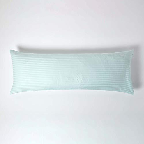 HOMESCAPES Funda de Almohada Larga 100% algodón Egipcio 330 Hilos 50 x 40 cm Color Azul