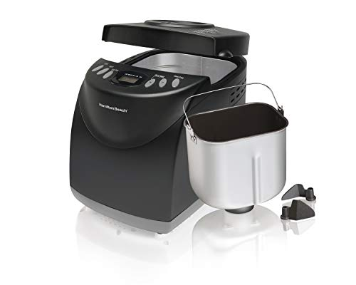 Hamilton Beach 2 lb Digital Bread Maker, Programmable, 12 Settings + Gluten Free, Dishwasher Safe...