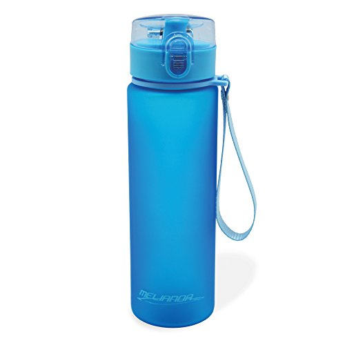 MELIANDA MA-7300 Trinkflasche Wasserflasche 550ml Nylon Handschlaufe blau