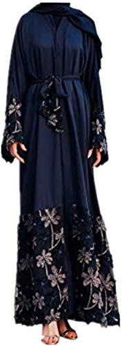 Kimono Traje Musulmán Musulmanes Abaya Dubai Vestimenta Islámica Árabe Tamaños Cómodos Árabe India Turca De Vestimenta Casual De Noche Del Vestido Caftán Vestido Una Línea V Vestido De Cuello Señoras