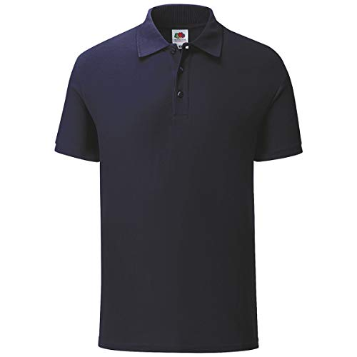 Fruit of the Loom 5er Pack Iconic Polo Shirt Herren Poloshirt Mehrpack Größe S - 3XL, Größe:L, Farbe:deep Navy