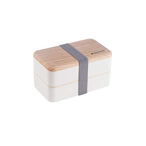LHTCZZB Tabique móvil de Doble Capa de Almacenamiento portátil Caja sellada de Almacenamiento con Tapa PP Material Fresco de Mantenimiento de la Fruta SND Vegetal Caja Adecuada for el Almuerzo Nevera
