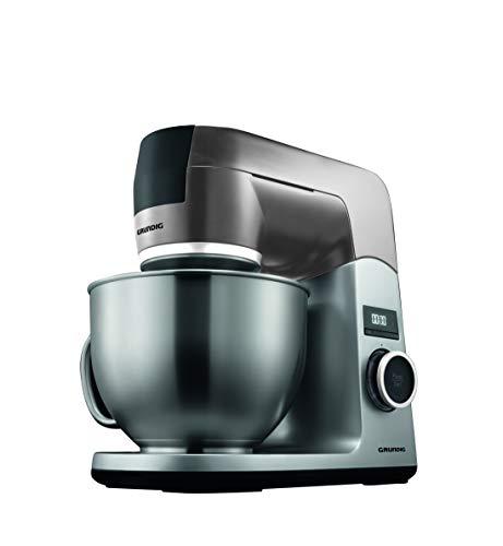 Grundig KMP8650S keukenmachine, 1000 W, 4,6 l roestvrijstalen mengkom, zwart/zilver