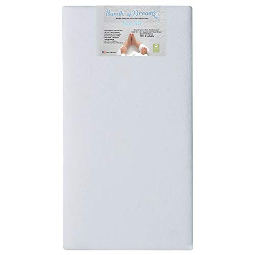 Bundle of Dreams Eco-Air Organic Crib and Toddler Bed Mattress, Breathable, Hypoallergenic