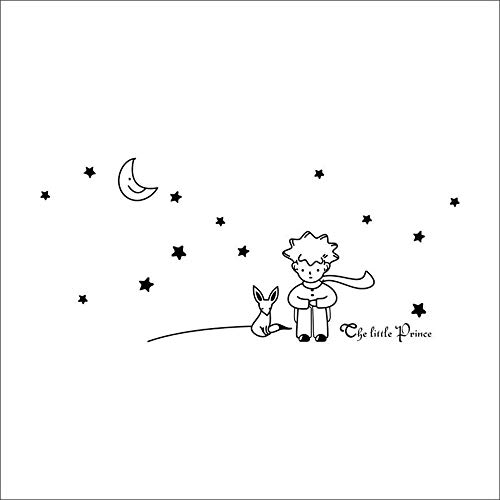NoBrand Le Petit Prince Fox Star Moon Wall Sticker Kids Baby Nursery Room Decor Enfant Cadeau Vinyle Autocollant Décoration Murale Art