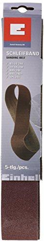 Original Einhell Schleifbandset 5 tlg. (Bandschleifer-Zubhö, passend für Einhell Stand-Bandschleifer TH-US 240, 5 Stück enthalten 2 x K60, 2 x K80, 1 x K100, 50 x 686 mm)
