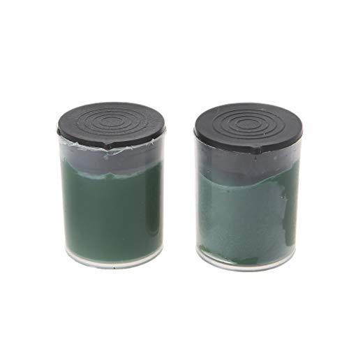 huiouer - Pasta pulidora de Metal (2 Unidades, óxido de Cromo, abrasiva, para Herramientas de moliendo)