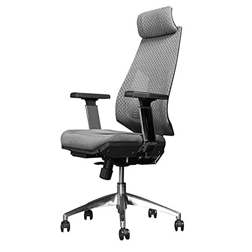 WSDSX Möbel Stuhl Office Mesh Stoff Executive, Ergonomie 360 ° Drehstuhl Haushalt 130 ° Rückenlehne Atmungsaktiver Computer Stuhl Verstellbarer Arm Stuhl, Grau