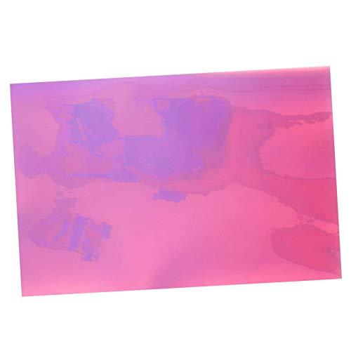 RENSHENKTO 4 hojas A4 transparente Pvc imitación cuero sintético tela para hacer rosa