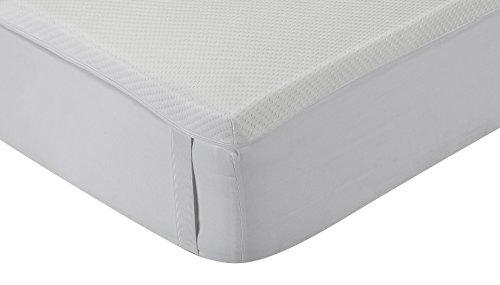 Classic Blanc - Surmatelas en mousse à mémoire Aloe Vera , confort médium, épaisseur 5cm. 180x190cm-Lit 180