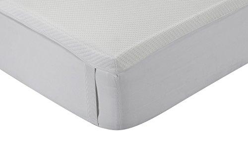 Classic Blanc - Topper / Viskoelastische Matratzenauflage Komfort plus, mittlere Festigkeit, 135 x 190 cm, Höhe 5 cm, Bett 135