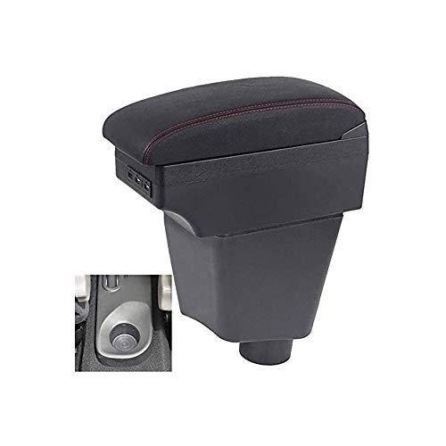KYLN Apoyabrazos Central Caja, para Renault Clio 4 2015 Contenedor de Almacenamiento Central para Coche con función de Carga Puertos USB