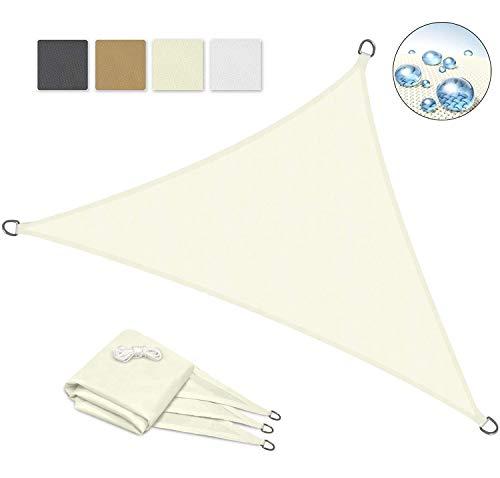 Toldo Vela Color Naranja sombrilla Parasol triangulo Tela de Poliéster Jardin Playa Camping Sombra Medidas, Medida,Beige,2×2×2m