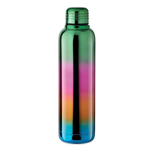Thermos, Bottiglia Termica in Acciaio Borraccia da 500ml Inox con isolamento, Doppio Strato Colorato Arcobaleno Multicolore Anti goccia Chiusura Ermetica