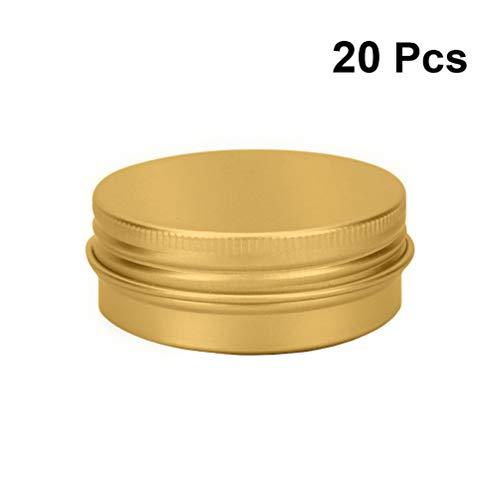 Lurrose 10 stuks aluminium doos met schroefsluiting 30 ml lege blikjes voor op reis cosmeticacontainer kruiden snoepgoed thee Größe 2 goud