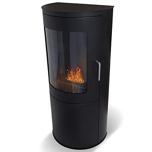Wikao Bari - Noir, cheminée éthanol (poele Bio, a Poser au Sol,Mobile,Nomade)