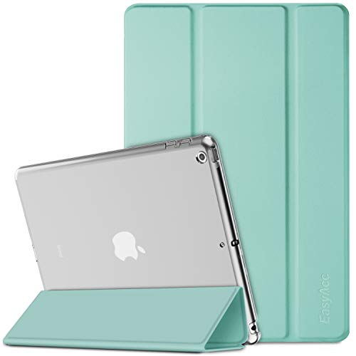 EasyAcc Hülle Kompatibel mit iPad 8 Generation iPad 10.2 2020 2019 iPad 7 Generation, Ultra Dünn Transluzent Matt Rückseite Abdeckung mit Auto aufwachen Schlaf Funktion, Minzgrün