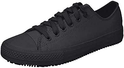 Skechers for Work Women's Gibson-Hardwood Slip-Resistant Sneaker, Black, 8 M US