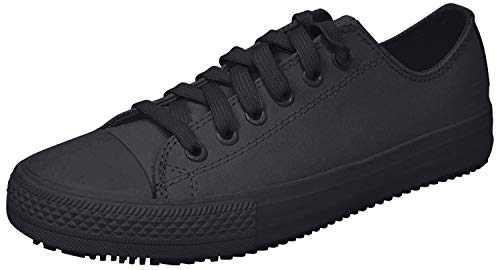 Skechers for Work Women's Gibson-Hardwood Slip-Resistant Sneaker, Black, 8.5 M US
